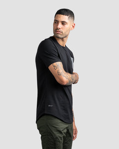 Black/Charcoal - Drop-Cut LUX Pocket Shirt