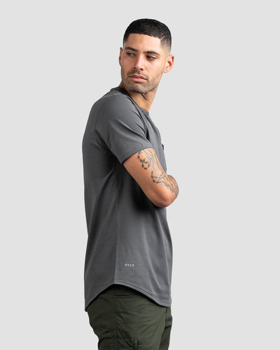 Drop-Cut: LUX Pocket Charcoal/Black - Drop-Cut LUX Pocket Shirt
