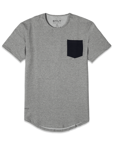 Drop-Cut: LUX Pocket <!-- Size XXL --> Heather Grey/Navy