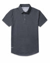 Drop-Cut: LUX Polo Dark Heather Grey Drop-Cut: LUX Polo