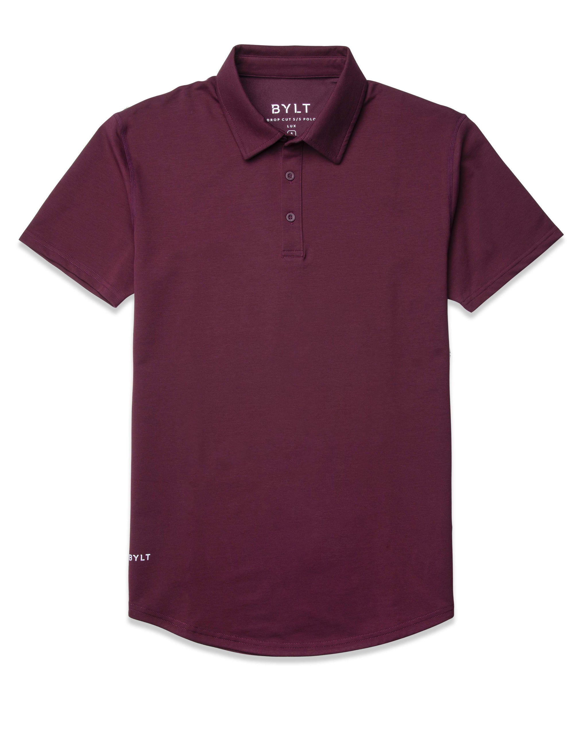 Maroon - Drop-Cut: LUX Polo