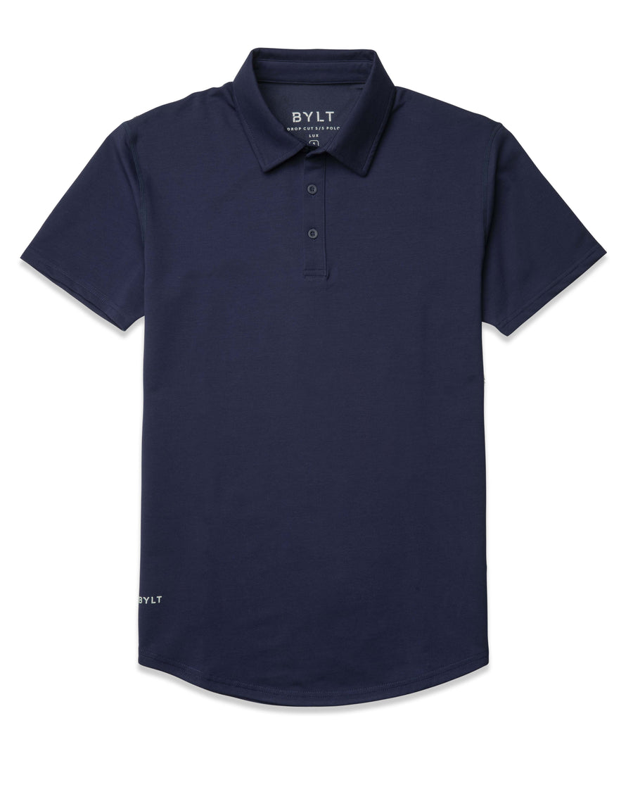 Navy - Drop-Cut: LUX Polo