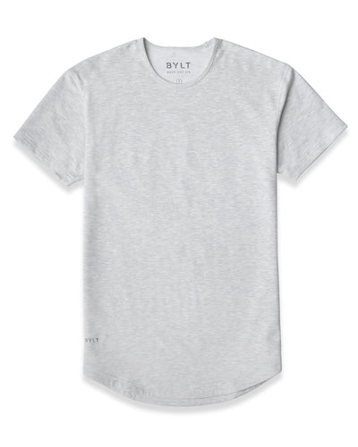 Drop-Cut: LUX <!-- Size M --> Light Heather Grey - Drop-Cut LUX
