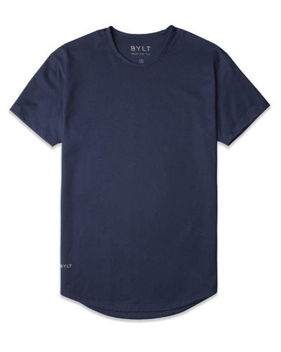 Drop-Cut Shirt <!-- Size M --> Navy - Drop-Cut Shirt