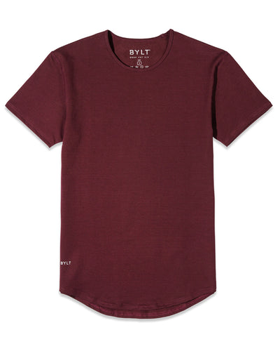 Drop-Cut Shirt <!-- Size M --> Maroon - Drop-Cut Shirt