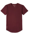 Drop-Cut Shirt <!-- Size L --> Maroon - Drop-Cut Shirt