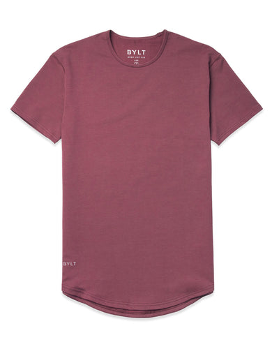 Drop-Cut Shirt <!-- Size M --> Wine - Drop-Cut Shirt