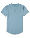 Henley Drop-Cut: LUX (FINAL SALE) Sky Blue