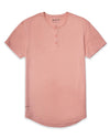 Henley Drop-Cut: LUX Pink Ice Henley Drop-Cut LUX Shirt