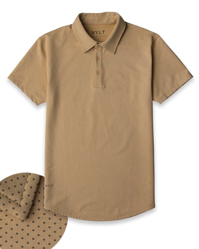 Drop-Cut: LUX Microdot Polo Dune/Olive