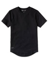 Drop-Cut Shirt <!-- Size M --> Black