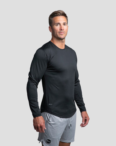 Performance Drop-Cut Long Sleeve Shirt Black - Performance Long Sleeve Shirt