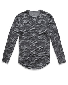 Asphalt-Camo - Performance Long Sleeve Shirt