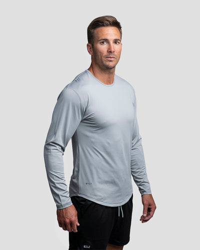 Performance Drop-Cut Long Sleeve Shirt Storm - Performance Long Sleeve Shirt