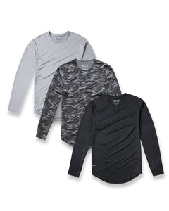BYLT Basic - Performance Drop-Cut Long Sleeve Shirt - Custom Pack