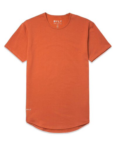 Drop-Cut Shirt <!-- Size L --> Burnt Orange - Drop-Cut Shirt