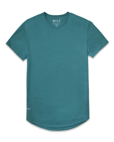 Drop-Cut Shirt <!-- Size L --> Deep Cyan - Drop-Cut Shirt