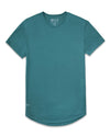 Drop-Cut Shirt <!-- Size S --> Deep Cyan - Drop-Cut Shirt