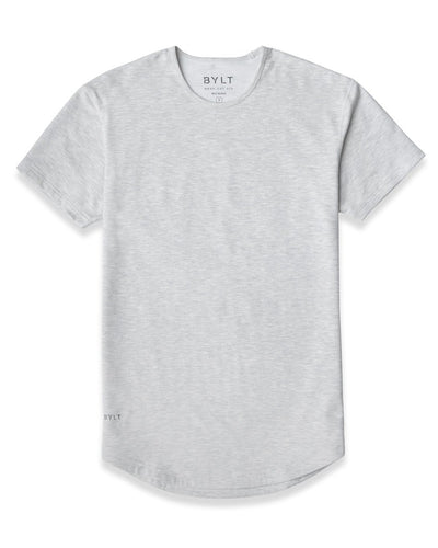 Drop-Cut Shirt (FINAL SALE) Light Heather Grey - Drop-Cut Shirt