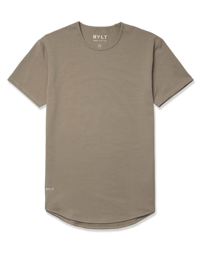 Drop-Cut Shirt <!-- Size S --> Olive - Drop-Cut Shirt