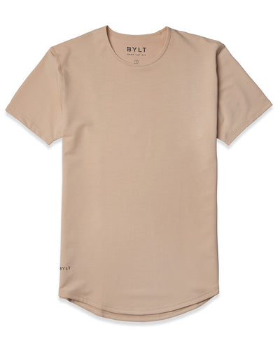 Drop-Cut Shirt <!-- Size S --> Sand - Drop-Cut Shirt