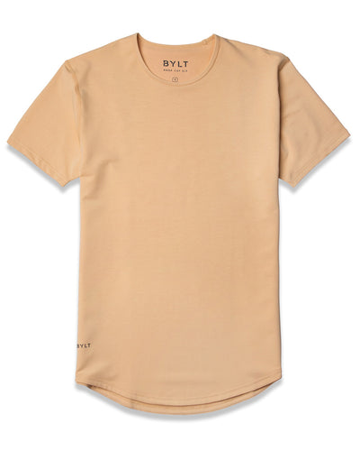 Drop-Cut Shirt <!-- Size S --> Almond - Drop-Cut Shirt