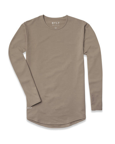 Drop-Cut Long Sleeve <!-- Size XLarge --> Olive