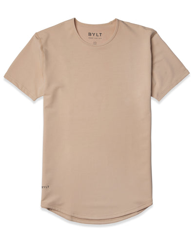 Drop-Cut Shirt Sand - Drop-Cut Shirt