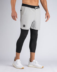 Storm/Black - Three Quarter Active Short