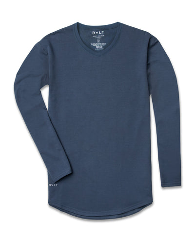 Drop-Cut V-Neck Long Sleeve (FINAL SALE) Midnight