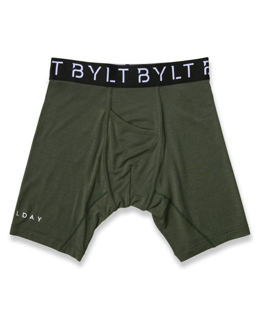 Dark Olive - AllDay Boxer Brief