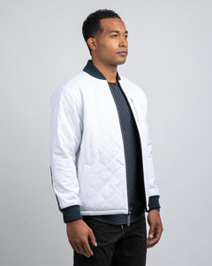 Tech Denim / White - Hi-Lo Reversible Bomber Jacket