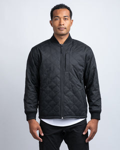 Black/Charcoal - Hi-Lo Reversible Bomber Jacket