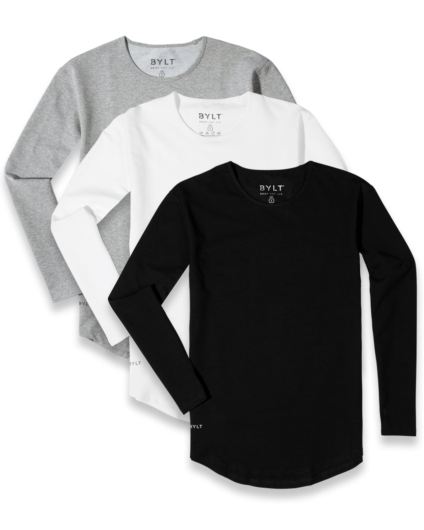 Drop-Cut Long Sleeve LUX - 3 Pack