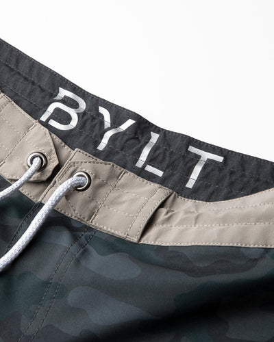 Coastal Board Shorts Black Camo/Olive
