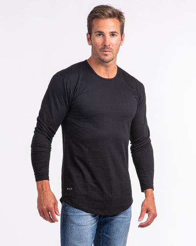 Drop-Cut Long Sleeve: LUX <!-- Size S --> Black