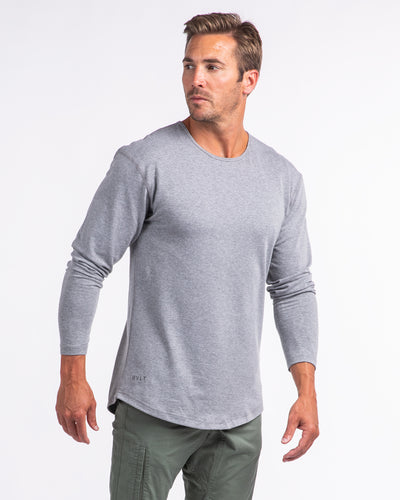 Drop-Cut Long Sleeve: LUX Heather Grey
