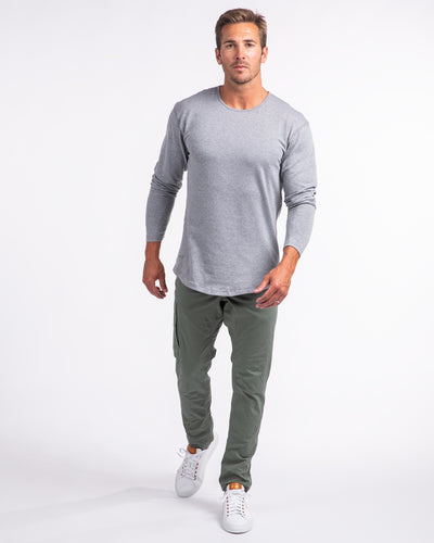 Drop-Cut Long Sleeve: LUX <!-- Size S --> Heather Grey