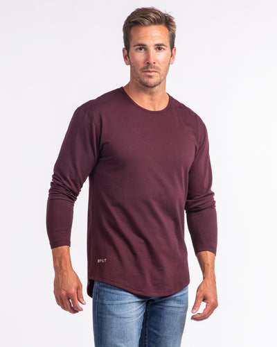 Drop-Cut Long Sleeve: LUX Maroon