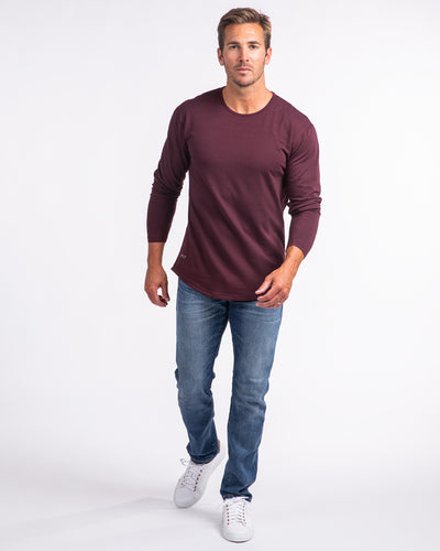 Drop-Cut Long Sleeve: LUX (FINAL SALE) Maroon