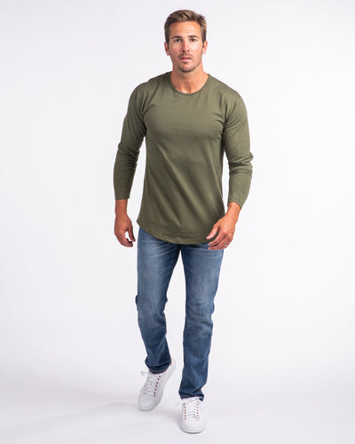 Drop-Cut Long Sleeve: LUX Military Green