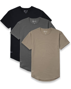 Drop-Cut Shirt - 3 Pack