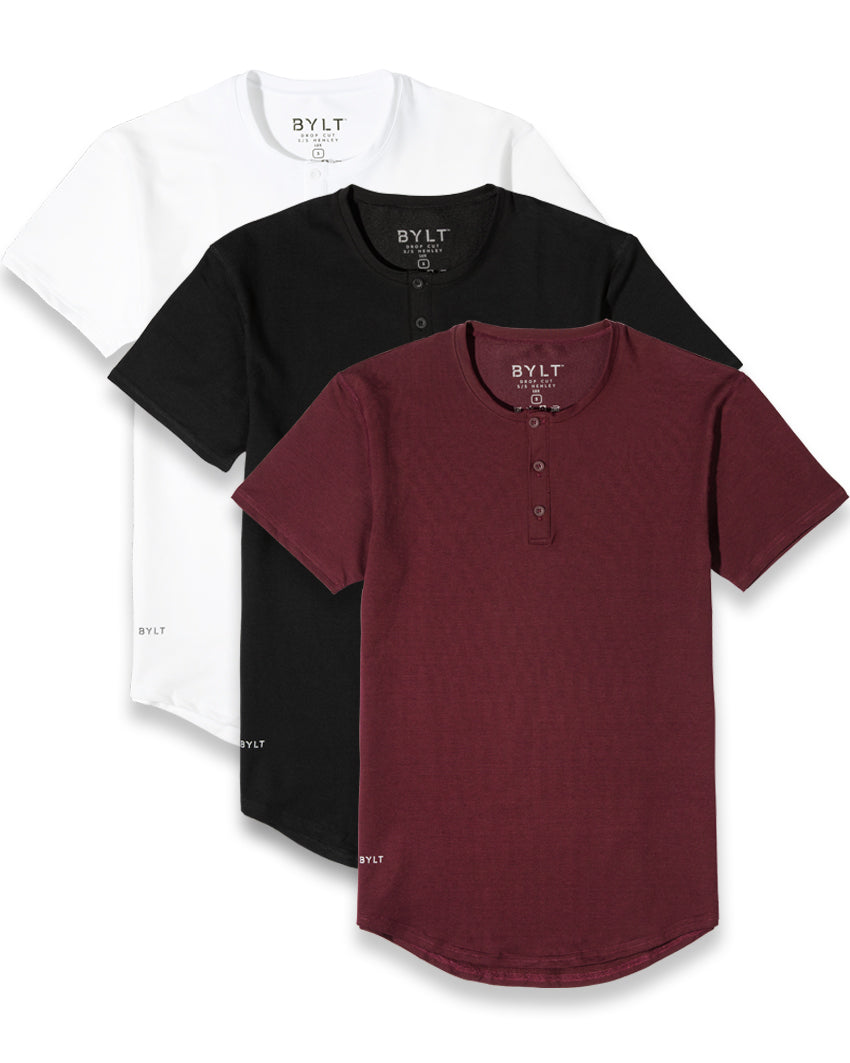 Henley Drop-Cut LUX - 3 Pack