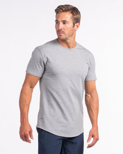 Drop-Cut Shirt (FINAL SALE) Heather Grey - Drop-Cut Shirt