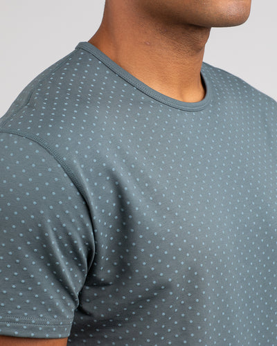 Dotted Drop-Cut: LUX Pacific/Slate - Dotted Drop-Cut: LUX
