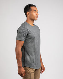 Charcoal/Sea Breeze - Dotted Drop-Cut: LUX