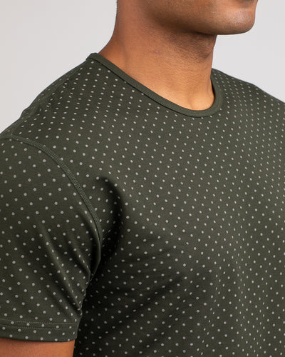 Dotted Drop-Cut: LUX Forest/Grey - Dotted Drop-Cut: LUX