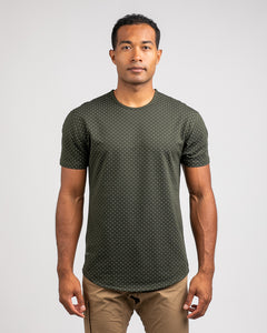 Forest/Grey - Dotted Drop-Cut: LUX