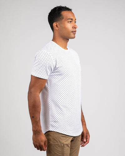 Dotted Drop-Cut: LUX White/Black