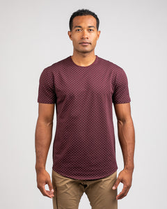 Maroon/Grey - Dotted Drop-Cut: LUX